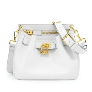Tom Ford White Lock Front Crossbody and Dust Bag